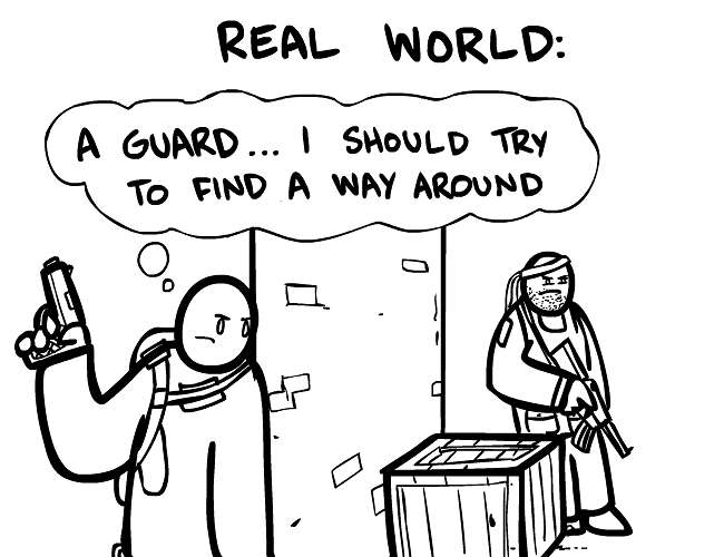 Real world vs. video games