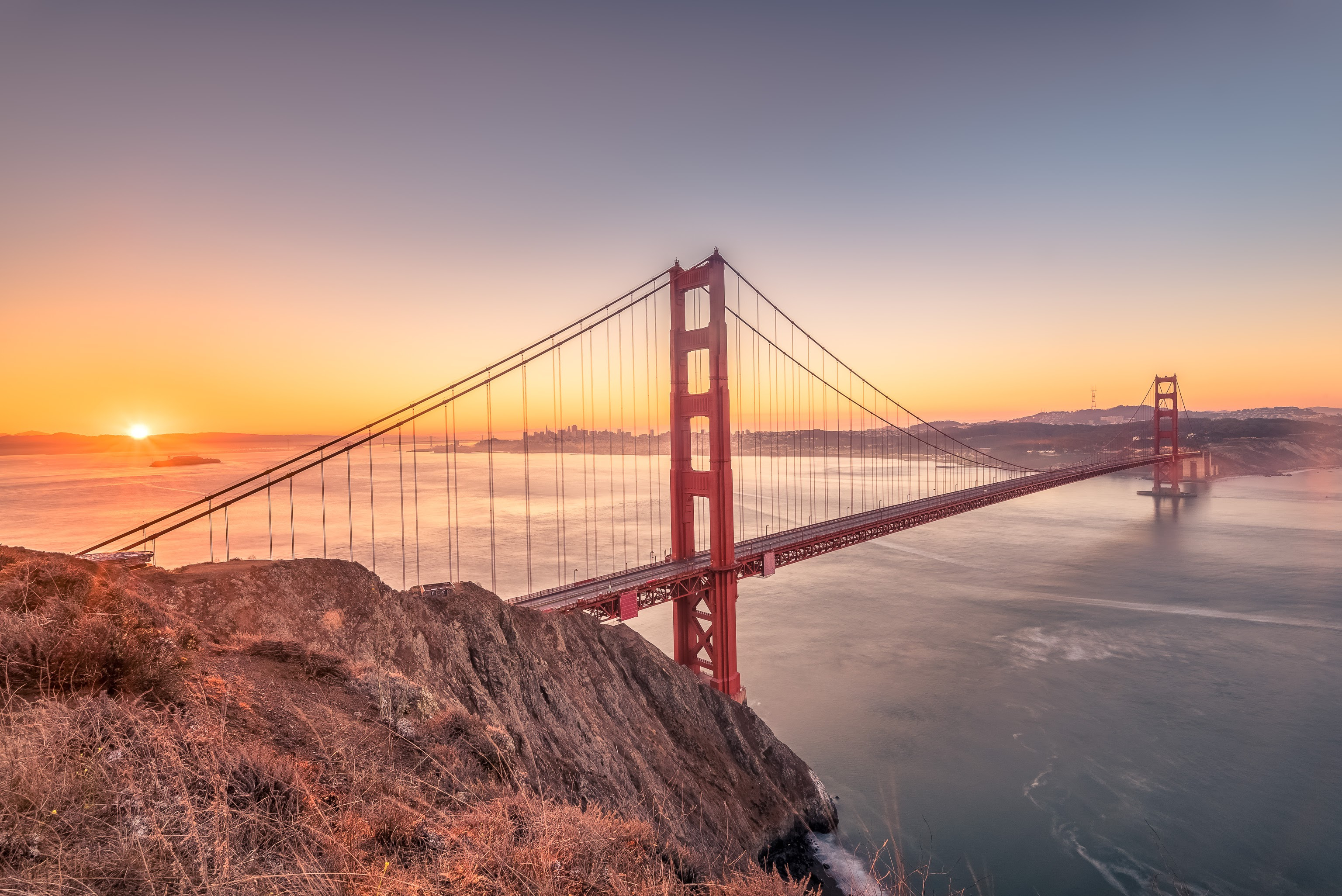 sunrise pictures golden gate - HD3072×2051